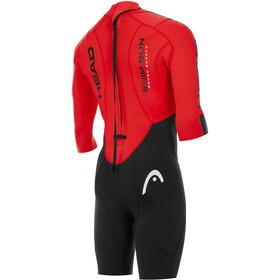 Head Swimrun Rough Traje Triatlón Corto Hombre, negro/rojo